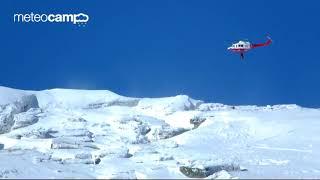 112 Cantabria helicóptero,  práctica de rescate alta montaña día  22-3-2018