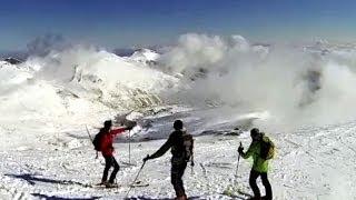 Alto Campoo bajada Cuchillón nieve polvo dura