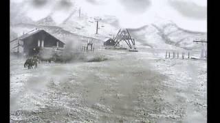 Alto Campoo. El Chivo, nevando el 15 junio de 2016