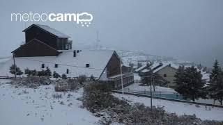 Alto Campoo nevando el 6 noviembre 2017