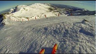 Alto Campoo Pico Tres Mares con nieve húmeda.