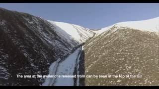 Avalancha nieve otoñal desde dron, autor ROB RANGE