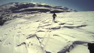 Bajada Pico Liguardi esquí de travesia Campoo