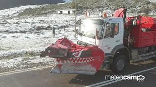 campoo nieve noviembre caballos sal quitanieves  2019