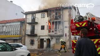 Incendio en Reinosa en Travesía Carretas 9 noviembre 2017