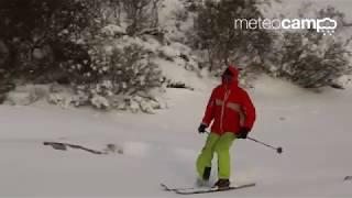 Primeras bajadas esquiando en Alto Campoo 17/18
