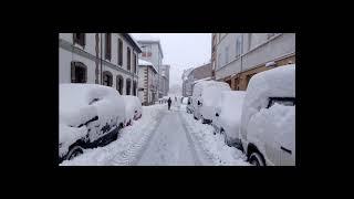 Reinosa nevada 20 marzo 2018. Primer día de la  primavera